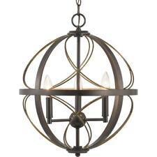 Progress Lighting Brandywine Collection 3-Light Antique Bronze Pendant