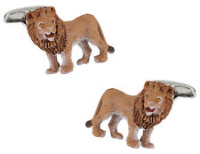 Painted Lion Cufflinks Direct from Cuff-Daddy