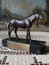 Hengst Horse Pferd Rennpferd Rennpreis um1930 Miniatur Reiter Reitpreis Art deco