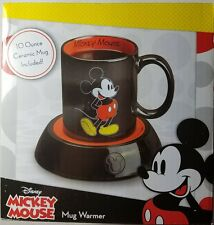 Coffee Mug Warmer Hot Plate w/ Cup Disney Mickey Mouse Cute Desktop Office Gift