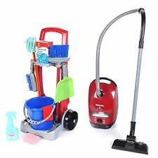 Kids Toy Learning Game Childrens Cleaning Trolley Supplies Tools Vacuum Play Set