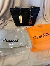 Shopper Bag Handbag Black Tom & Eva Shoulder Bag New