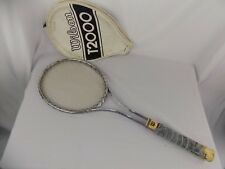 """Vintage Wilson T2000 Stainless Steel Tennis Racket With Cover 4 3/8"""""""