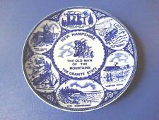 New Hampshire, The Old Man of The Mountains, The Granite State Blue Plate