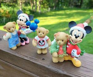 Cherished Teddies Mickey Mouse & Madalyn 4009185 Minnie & Soren 4009184