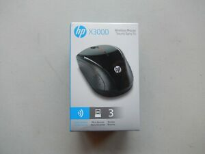 NEW OEM HP X3000 Wireless Mouse Black H2C22AA#ABL w/ AA Battery + USB Receiver