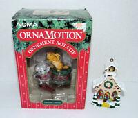Vintage Noma Ornamotion Ornaments Curious Cats & Church Choir