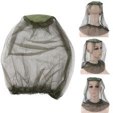 Unisexe Chapeau Bonnet Pêche Masque Filet Anti Moustique Abeille Protége Visage