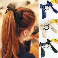 Lady Elastic Hair Ties Band Ropes Ring Ponytail Holder Scrunchie Bow-Knot Ribbon