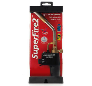 Rothenberger Super fire 2 Blow Torch Soldering, 3.5644 Brazing Gas Refillable