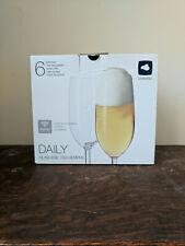 Leonardo Italian Glass Daily Beer Flute Pint Glass 360 ml #63318 Set of 6 New