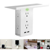 Electrical 8 Port Wall Socket Shelf Surge Protector 6 Outlet Extenders Plug In