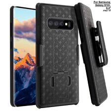 For Samsung Galaxy S10+ Plus Case Combo Shell Holster Slim Fit Shell Swivel Belt