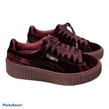 FENTY Puma Rihanna Velvet Creeper 'Burgundy' Red  Sneakers Women Size Us 7.5