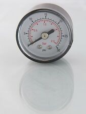 Air Pressure Gauge 1/8 BSP Rear Entry 40mm Dial 0-30psi-2 Bar Max 617x