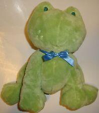 Carters Talking Frog Plush Stuffed Beanbag Talks Croaks Noise Blue Bow