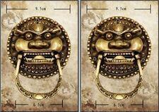 Chinese Copper Bronze Foo Dog Foo Lion Door Knocker Pair