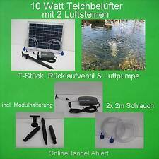 10 WATT SOLAR TEICHBELÜFTER SAUERSTOFFPUMPE TEICHLÜFTER TEICHBELÜFTUNG LUFTPUMPE