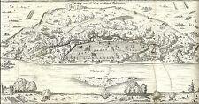Antique map, Thorn mit Ao. 1658 erlittener belagerung