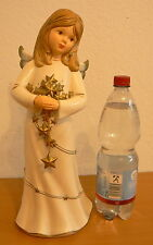 Goebel Engel, 40 cm groß, champagnerfarben mit Sternen, Nr. 41354, NEUW ohne OVP