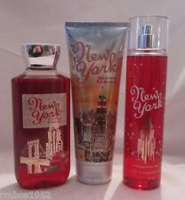 Bath & Body Works New York Big Apple & Caramel  Shower Gel Cream Splash Set of 3