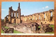 Byland Abbey near Coxwold, Yorkshire Postcard.1978  Free Postage