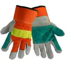Global Glove Hi Visibility  double palm work glove 2300HVDP-L / Dozen/Pairs