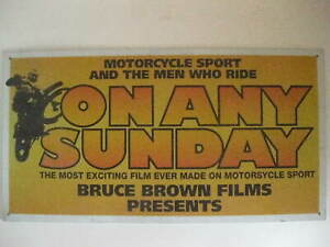 On Any Sunday Movie Poster Tin Tacker Sign