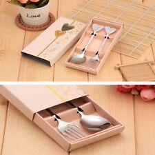 Steel Silver Dinnerware Set Fork Spoon Set Love Heart Wedding Gift Favor Party