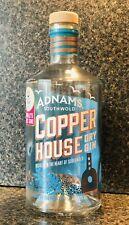 EMPTY ADNAMS COPPER HOUSE GLASS GIN BOTTLE 70cl *CRAFT*DECOR*WEDDING*