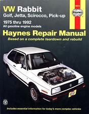 VW RABBIT GOLF JETTA SCIROCCO PICK-UP HAYNES REPAIR MANUAL 1975-1992