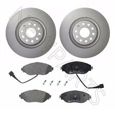 For Audi S3 VW GTI CC Set of Front 340mm Brake Disc Rotors & Pads w/ Sensors ATE