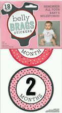 NWT Baby Belly Brags Stickers for a Girl!