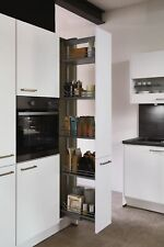 Hochschrank Apothekerschrank Küchenschrank 30cm in Alpinweiß mit Soft-Close