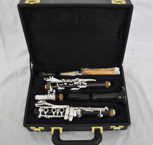 Professional 19 key Ebony wooden Clarinet Grendadill with new case