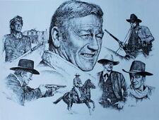 John Wayne Different Faces