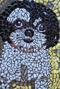 Custom Piece Made Mosaic Pet Pictures / Direct From Artist