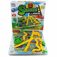 3D Snakes And Ladders Kids Childrens Board Game Traditional Family Toy 3yo+
