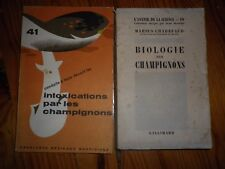 1944 -1960 MYCOLOGIE CHAMPIGNONS 2 LIVRES