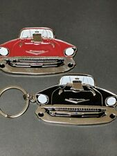 "57 1957 Chevy unique keychains ""your choice red or black"" (F4)"