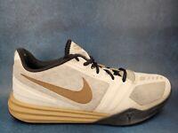 Nike Kobe Mentality Mamba White Black Gold Size 9.5 Rare 704942-102 Basketball