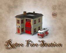 Lego Retro Firestation with Firetruck building instruction MOC - PDF - LDD - HTM