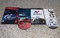 Gran Turismo 3 A-Spec + Gran Turismo 4 PlayStation 2 PS2 Racing Lot Complete