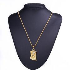 Cool Charm Men Boy Hip Hop Necklace Long Gold Necklace Jesus Piece Pendant Chain