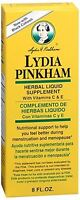 Lydia Pinkham Herbal Liquid Supplement 8 oz (Pack of 2)