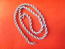 """VINTAGE STERLING SILVER  """" ROPE""""  NECKLACE.  PERFECT CONDITION.15  1/2 """" LONG."""