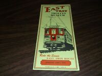 JUNE 1973 EAST TROY TROLLEY MUSEUM TIMETABLE AND BROCHURE