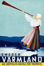 T77 Vintage Sweden Visby Tour Travel Poster Re-Print A2//A3//A4