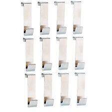 12Stk Türhaken aus Edelstahl Kleiderhaken Badezimmerhaken Kleiderhaken Garderobe