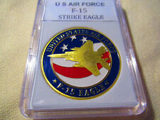 U S AIR FORCE F-15  STRIKE EAGLE Challenge Coin